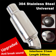 "Universal Stainless Steel Car Exhaust Pipe Muffler End Tip 2"" Inlet to 2"" Outlet"