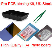 PRO PCB PHOTO BOARD ETCHING ETCH SIMPLE SET KIT NEW UK STOCK