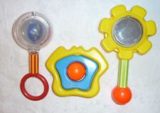 VINTAGE JOHNSON AND & JOHNSON FISHER PRICE BABY RATTLE TOYS SPINNER FLOWER 434