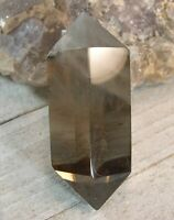 Lg Smoky Quartz DT Point Crystal Reiki Chakra Wicca Grounding Protection 26349E