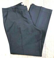 "Calvin Klein Women's Flat Front Straight Leg Black Pants 38x29 Rise 10"""