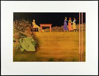 """""""Im Park"""", 1977. Grosse Serigraphie von Moritz BAUMGARTL (*1934 D) handsigniert"""