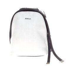 FURLA Spy Color Block Black White Made in Italy Mini Backpack Handbag