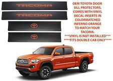 Genuine OEM Toyota Door Sill Protectors For 2016-2018 Tacoma New Free Shipping