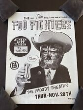 foo fighters poster Austin City Limits