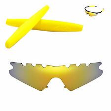 Polarized 24K Gold Vented Replacement + Yellow Earsocks For Oakley M Frame Sweep