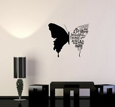 Wall Decal Butterfly Phrases Words Beautiful Quote Vinyl Sticker (ed814)