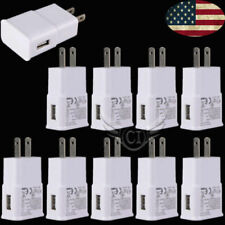 Lot 10X Usb Adapter Ac Home Samsung Wall Chargers Us Plug Android All Micro Port