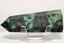"3.3"" Natural Green Fuchsite Point Polished Muscovite Mica Quartz Crystal Stick"