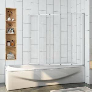 120x140 Badewannenaufsatz 5-teilig Faltwand Trennwand  Duschwand Duschabtrennung