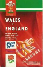 WALES v ENGLAND 1993 RUGBY MEMORABILIA COLLECTION, IEUAN EVANS TRY