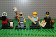 LEGO Photographer Businessman Series 8 13 15 16- Lot of 4 minifigure collectible
