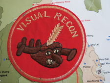 VISUAL RECON  , VIETNAM WAR PATCH  , 4 IN