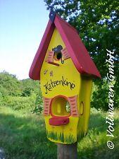 ORIGINAL die VOGELVILLA Minivilla KATZENKINO 2in1 Vogelhaus + Nistkasten