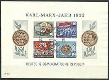 DDR Block 9 B YI (Karl Marx) mit Sonderstempel gepr. König BPP