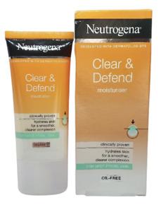 Neutrogena Clear and Defend Moisturiser, 50ml Oil Free Spot Prone Skin