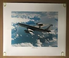 Vintage Boeing E-3A Poster Airplane USAF Airborne Warning & Control System Plane