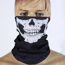 1Pc Halloween Black Skull Bandana Headband Mask Outdoor Sports Motorcycle Decor