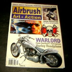 Airbrush  + Action Magazine October 1998 Olivia de Berardinis Harley Art