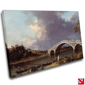 CANALETTO A VIEW OF WALTON BRIDGE CANVAS Wall Art Picture Print A4