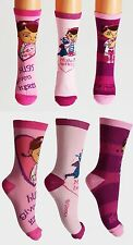 Disney Doc McStuffins Girls Toddlers Ankle 3 x Socks Age 2 3 4 6 7 8 9 FREE P&P