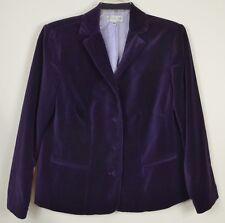 Gabriella Skye 14W 1X Purple Velvet Blazer 3-button Lined Pockets Long Sleeve