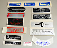 MG MGB Roadster 1965 -1967 Decal Sticker Plate Kit MGK2004 Adhesive Graphic Body