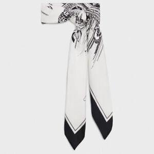 CELINE 490$ Scarf In Printed Silk Twill