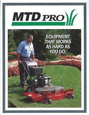 Lawn Equipment Brochure - MTD PRO - Mower et al Product Line - c1997 (LG55)