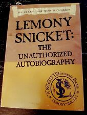 Lemony Snicket The Unauthorized Autobiography Paperback Unfortunate Events