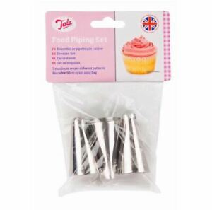 Food Piping Decorating Set 3 Nozzles For Beginners in Baking & Icing