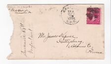 N.Y. & PITTS. R.P.O. OCTOBER 20, 1895 ON #267 CROSS CANCEL TO HARRISBURG, PA
