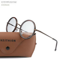 New Vintage Round Mens Womens Eyeglasses Frame Spectacles Clear Lens Glasses