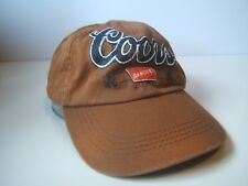 Coors Banquet Beer Spell Out Script Hat Brown Strapback Baseball Cap