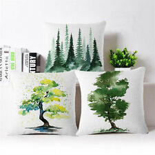 Ink pine tree Linen Cotton Fashion Throw Pillow Case Cushion Cover Home Decor