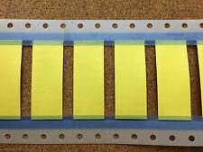 12.7mm x 50mm 3:1 Calore Strizzacervelli guaina piatta parete sottile filo GIALLO MARCATORE TMS SCE