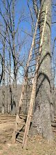 22' Tall Primitive Rustic Antique Wood Rung Ladder Barn Farm Wooden Rack Cabin