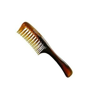 Luxury Wide DOUBLE Tooth Professional Detangling Hair Comb (AMBER) ***HAIR CARE