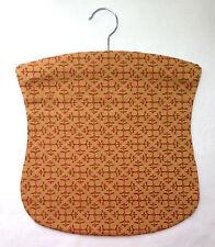 Handmade peg bag. Wooden hanger. Vintage fabric.