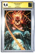 COSMIC GHOST RIDER #1 1:100 CGC SS 9.4 SIGNED DONNY CATES BROOKS VARIANT