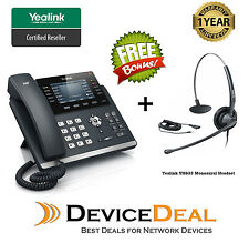 Yealink SIP-T46S 16 Line IP Phone with Free Yealink YHS33 Headset