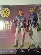 "New Gold's Gym Sauna Suit L/XL Fits 36-44"" for Weight loss."
