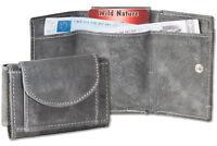 Wild Nature Mini porte-monnaie & sacoche à clés en fin cuir en anthracite