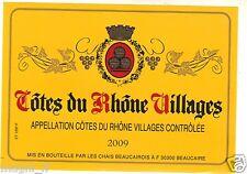 Etiquette de vin - Côte du Rhône Villages (177)