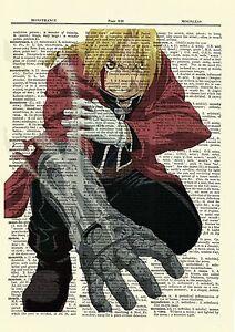 Fullmetal Alchemist Edward Anime Dictionary Art Print Poster Picture Full Metal
