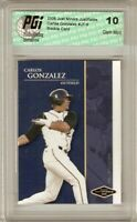 Carlos Gonzalez 2006 Just Minors Rookie Card PGI 10