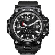 SMAEL WATCH Digital Wrist Sport Series LED for Men Waterproof 1545 SILVER