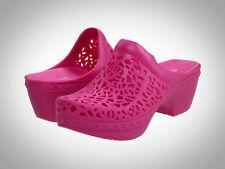 Dansko Pippa Women Molded Clog Shoe, Open Back,Comfortable MAGENTA / dark PINK