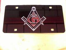 Masonic  License Plate Black/Chrome  NEW!!