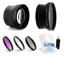 52mm hd 2x lens 3pc filter complete lens kit for Nikon AF-S DX Zoom 55-200mm